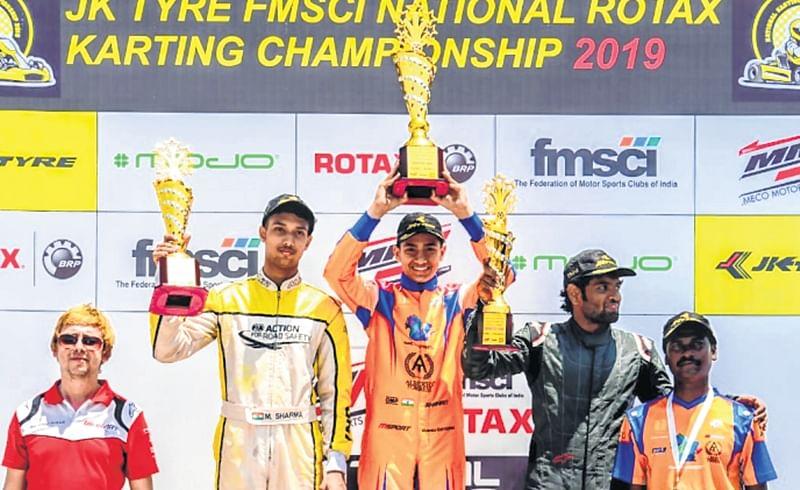 Shahan Ali Mohsin, Mihir Avalakki shine in National Karting Championship