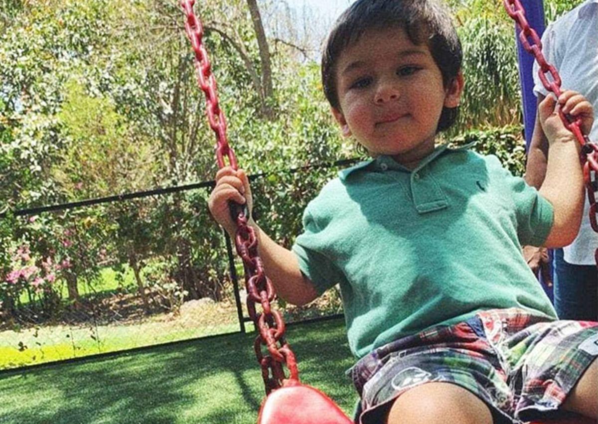 Kareena's son Taimur Ali Khan is an absolute cutie pie as he plays on a swing