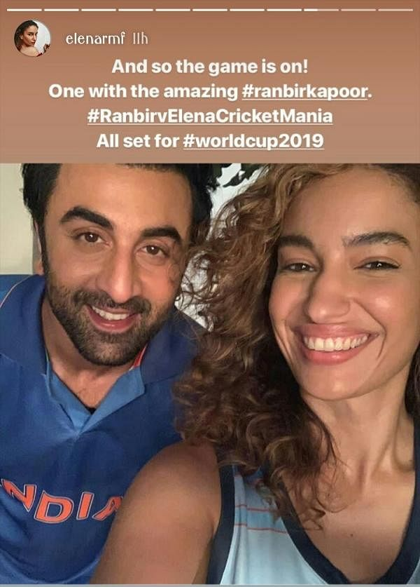 Ranbir Kapoor bonds with Elena Fernandes over cricket, Alia are you seeing this?