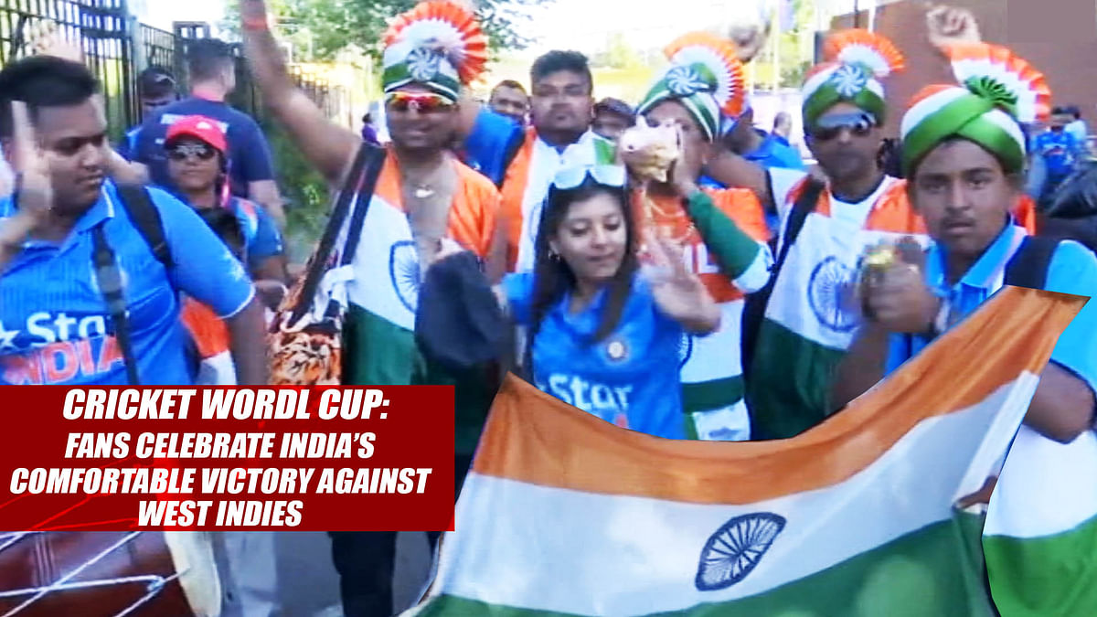 Cricket World Cup2019 : Fans Celebrate India's Comfortable Victory Against West Indies