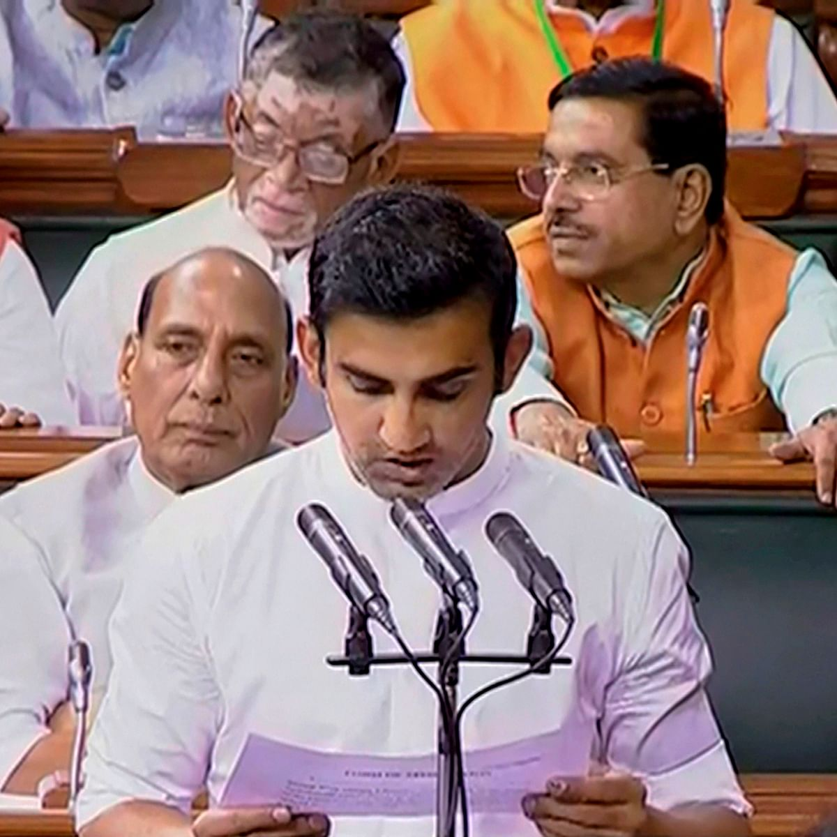 Winter session: Missed in committee meeting, Gautam Gambhir surfaced in parliament