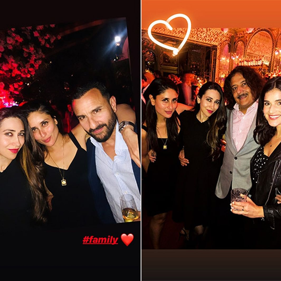 Karisma Kapoor parties with sister Kareena Kapoor Khan and Saif Ali Khan in London, See pictures
