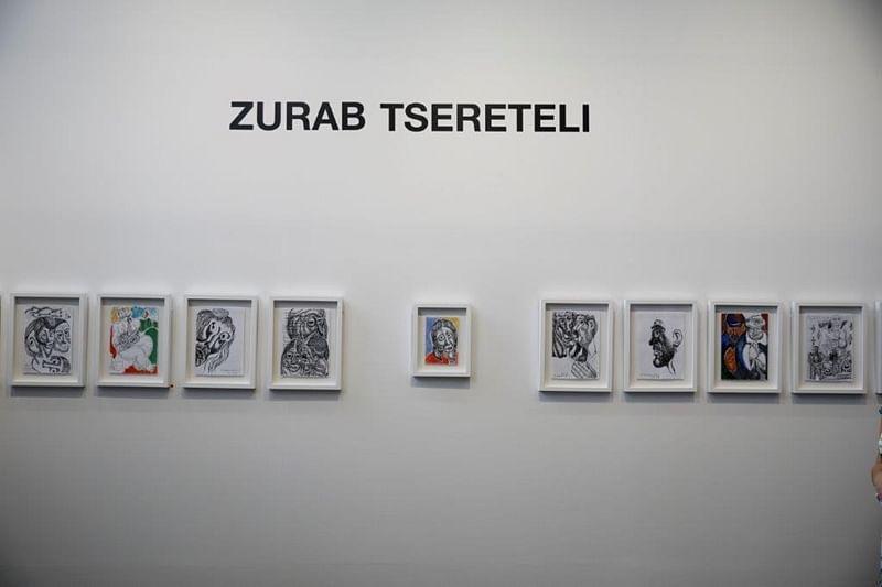 Works by legendary Georgian-Russian artist Zurab Tsereteli at Tbilisi Art Fair