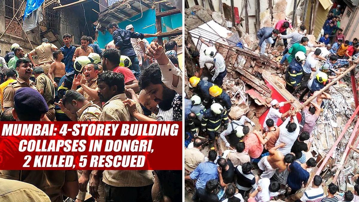 Mumbai: 4-Storey Building Collapses In Dongri, 2 Killed, 5 Rescued