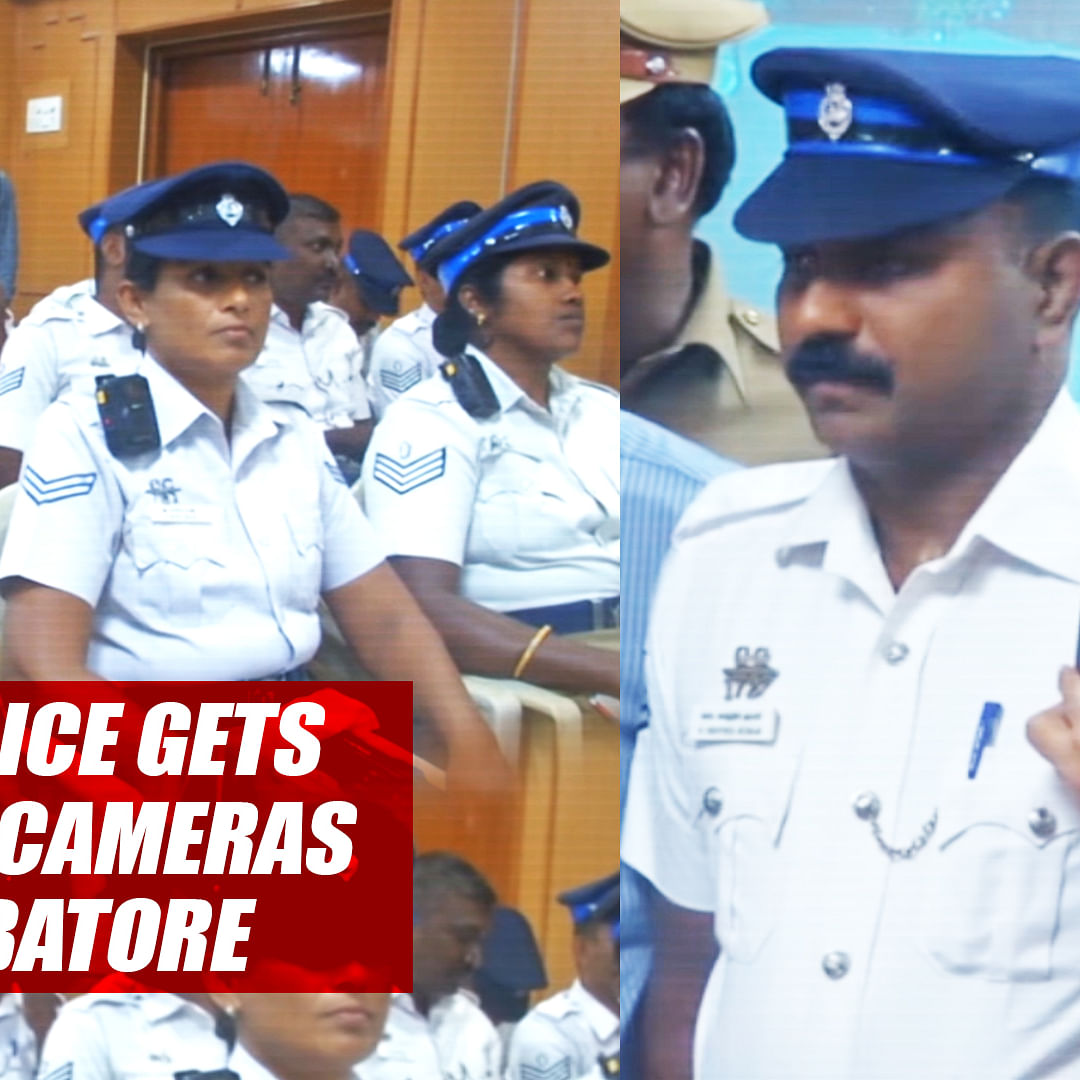 Traffic Police Gets Body-Worn Cameras In TN's Coimbatore