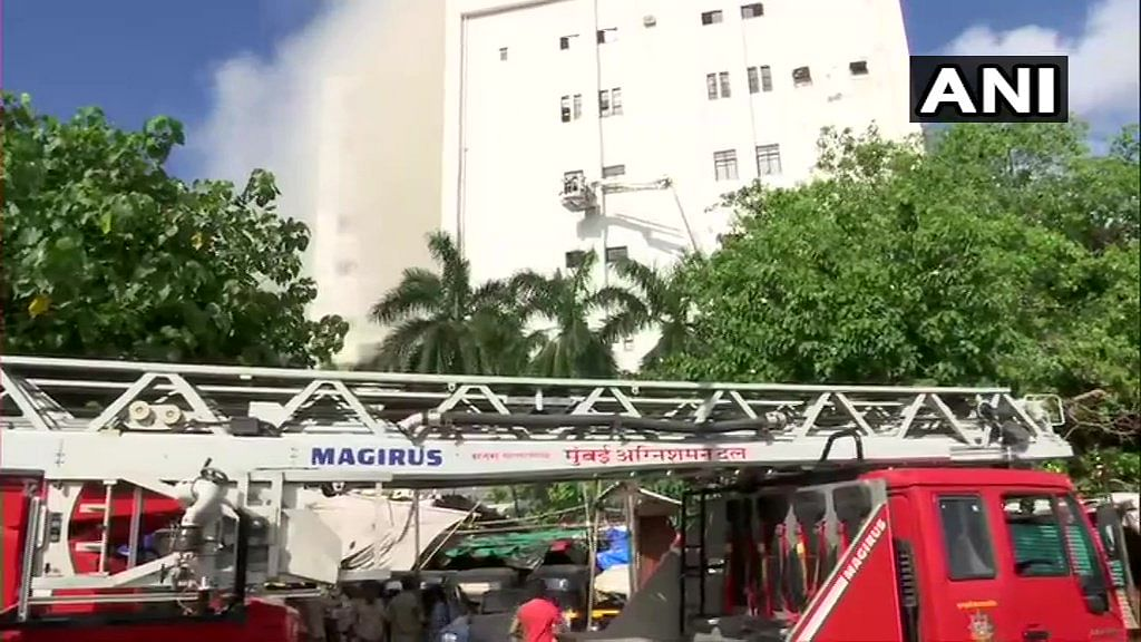 20 rescued from burning MTNL building in Bandra, 40 feared trapped