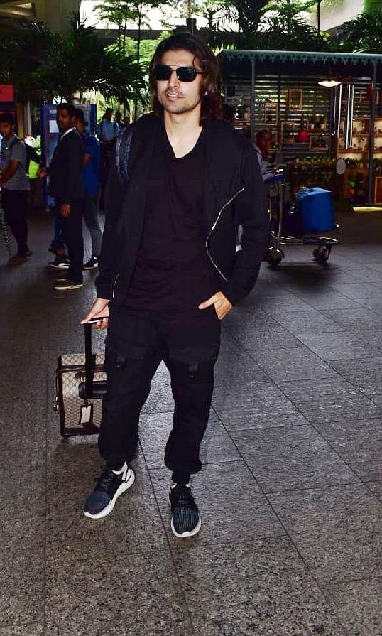 Gurmeet Chaudhary spotted at Mumbai airport.