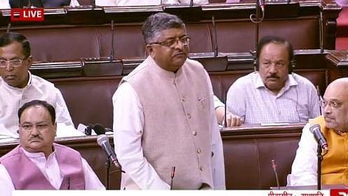 Union Minister Ravi Shankar Prasad (C)