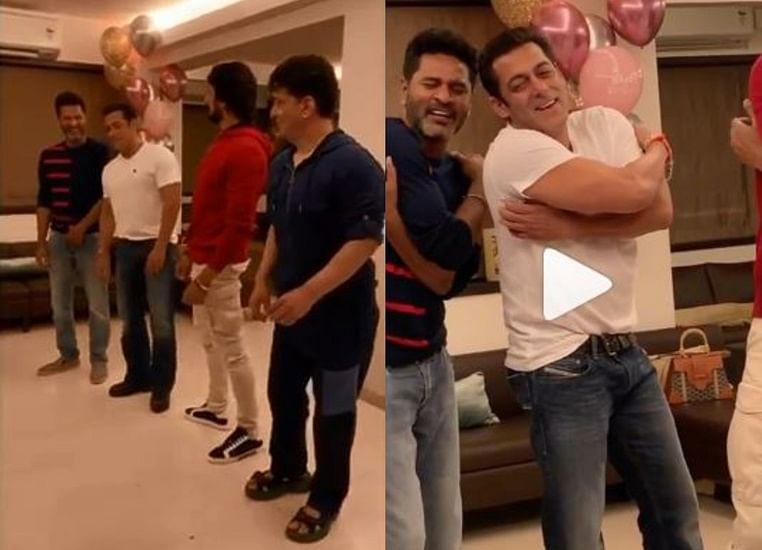 Watch Salman Khan, Kichcha Sudeep and Sajid Nadiadwala take dance lessons from Prabhu Deva