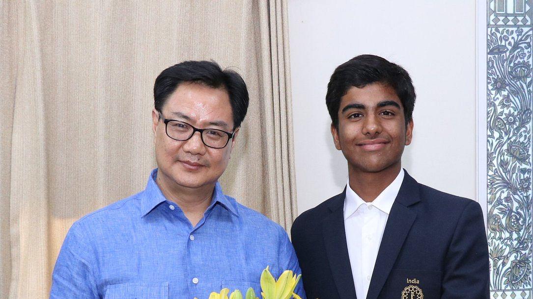 Arjun Bhati with Kiren Rijiju - Minister of State Youth Affairs & Sports