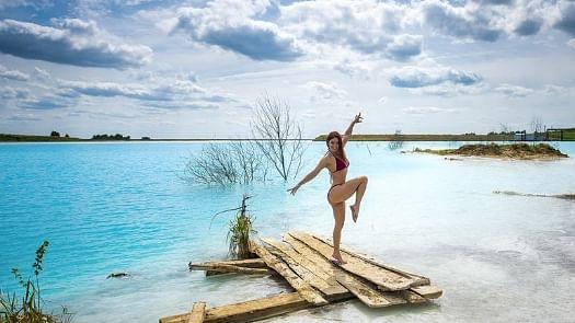 Siberia's Toxic lake becomes selfie hub