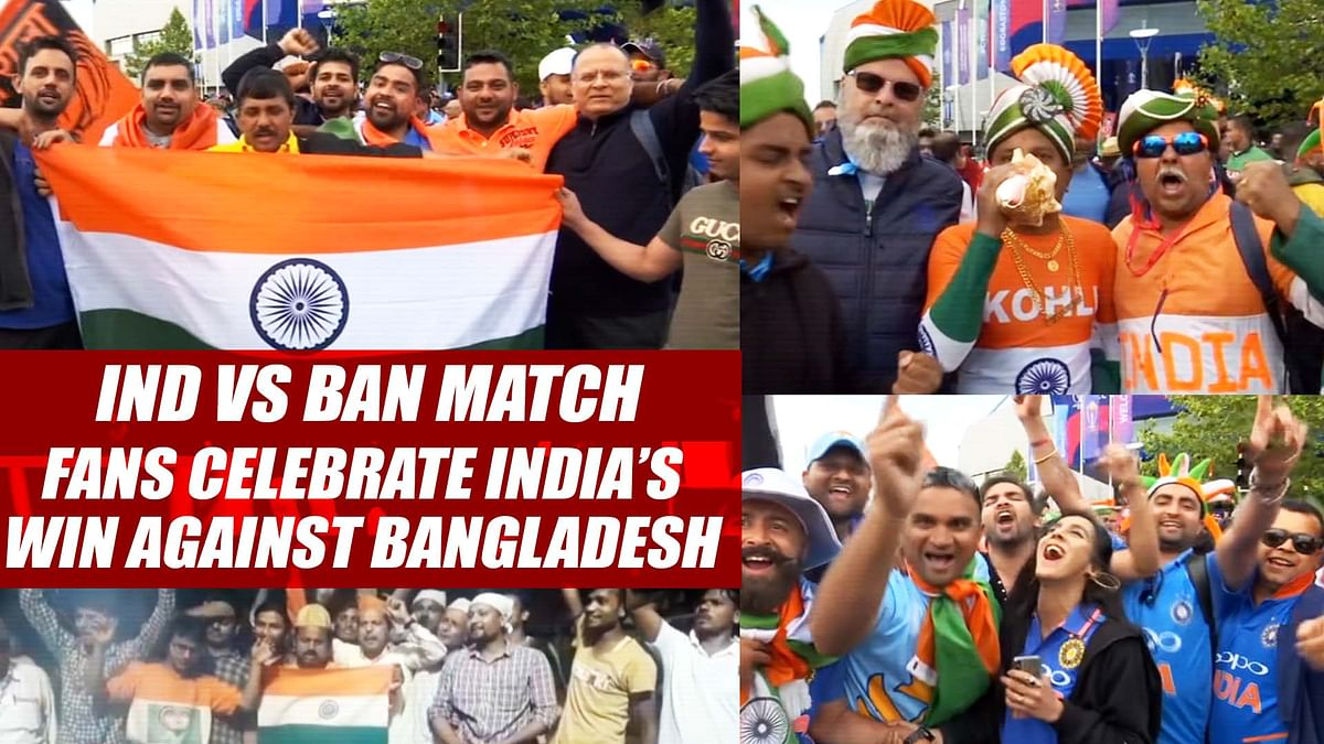 India Vs Bangladesh Match | Cricket World Cup 2019 | Fans Celebrate India's Win Against Bangladesh