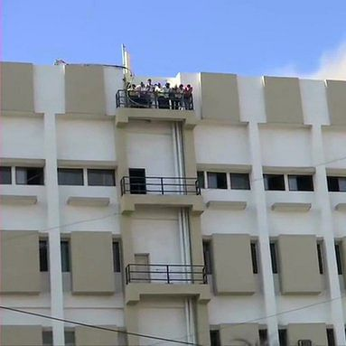 Mumbai: Cooling operations on at fire-hit MTNL building in Bandra