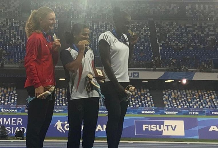 Dutee Chand wins gold in World University Games, Napoli