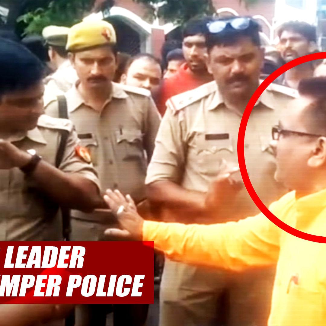BJP Leader Loses Temper After Police Caught Him Without Helmet On Bike