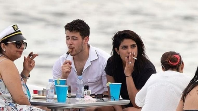 'Asthmatic' Priyanka Chopra enjoys a smoke on yacht with her family