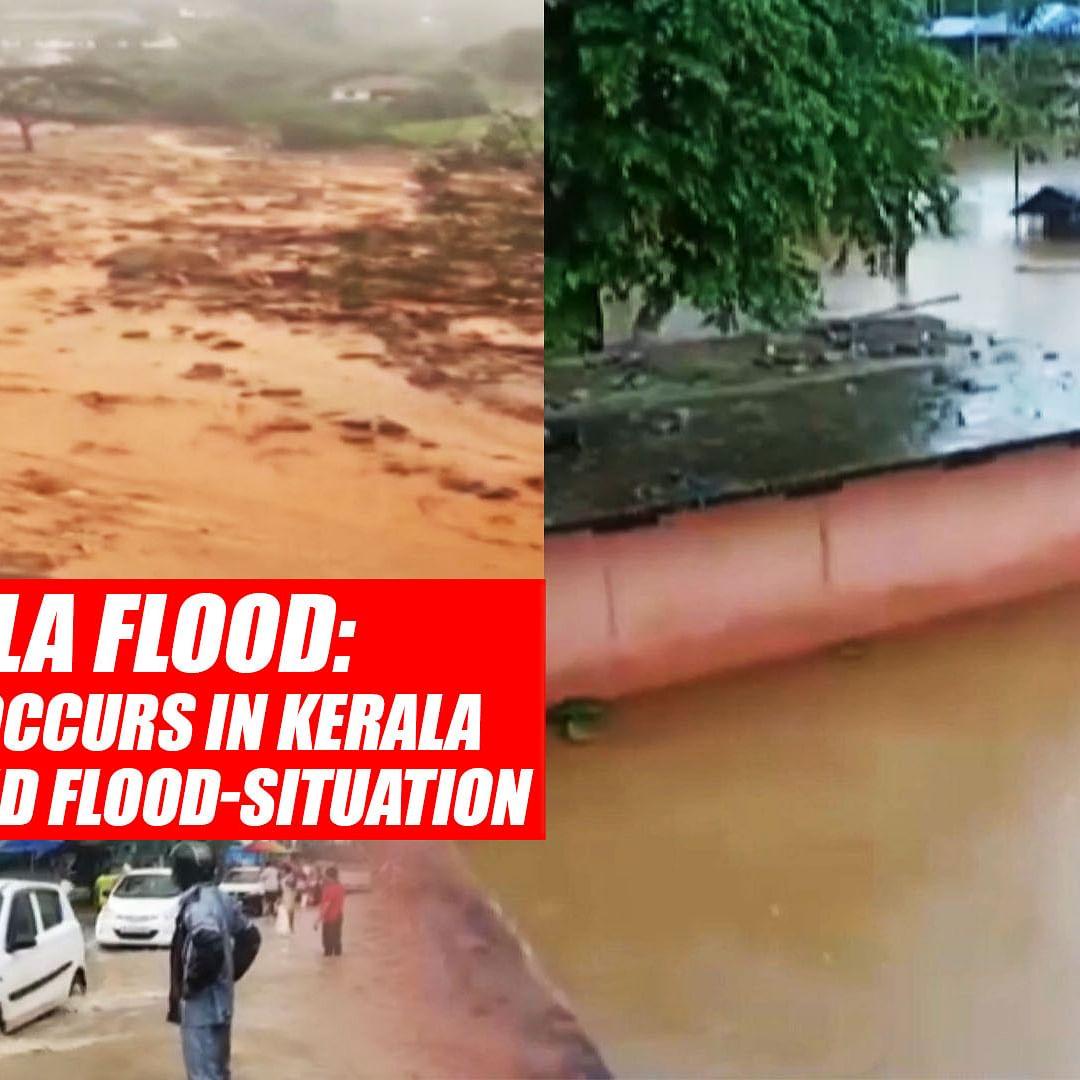 Kerala Flood: Massive Landslide Occurs In Kerala's Wayanad Amid Flood-Situation