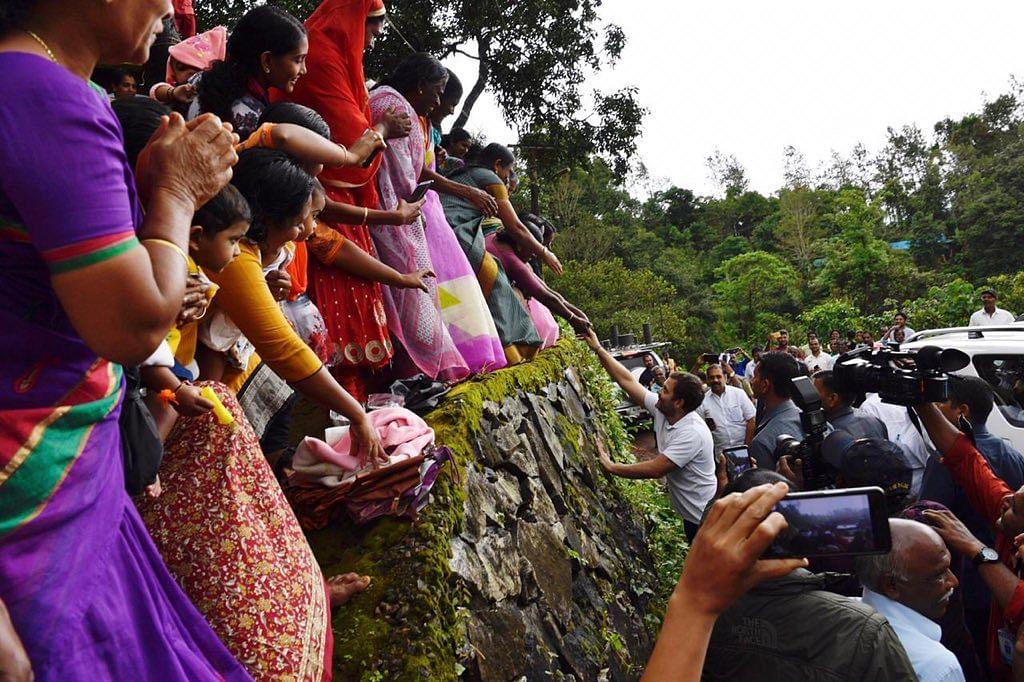 Rahul Gandhi visits tribal colonies in Wayanad