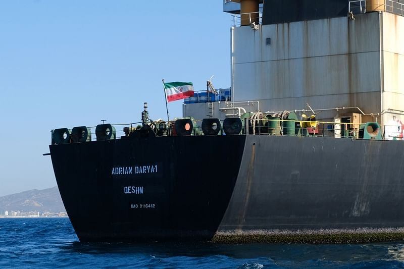 Iranian oil tanker sails off Gibraltar with Indian crew