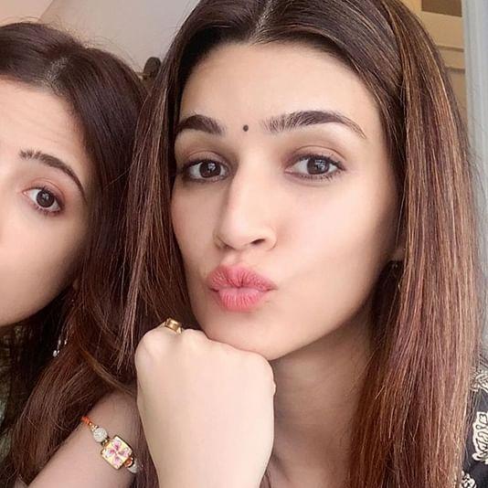 Breaking norms, Kriti Sanon ties Rakhi to sister Nupur Sanon, see pics