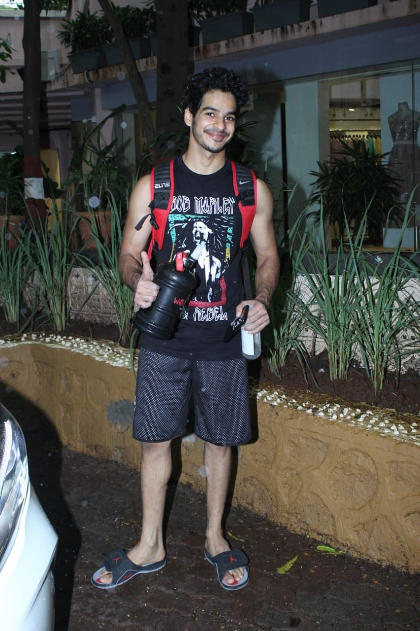 Ishaan Khattar spotted at gym in the city