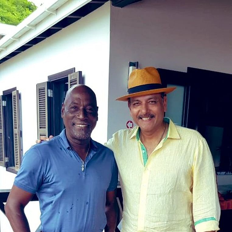 'With My Maan. The King in his Kingdom': Ravi Shastri shares picture with Vivian Richards