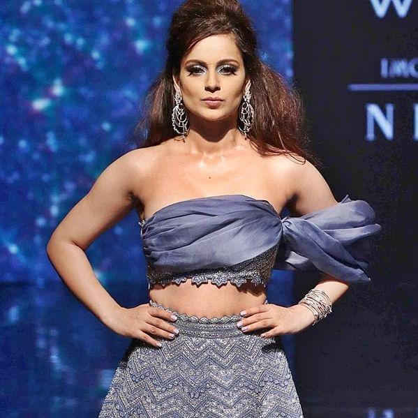 Kangana Ranaut dazzles in cobalt blue lehenga at Lakme Fashion Week 2019
