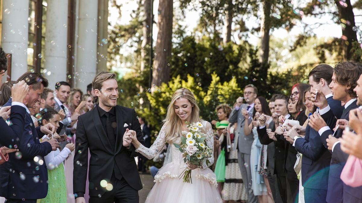 Youtube superstar PewDiePie marries longtime partner Marzia Bisognin