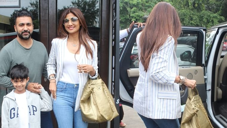 Shilpa Shetty carries a Rs 3.8 Lakh Chanel Bag for a casual family outing
