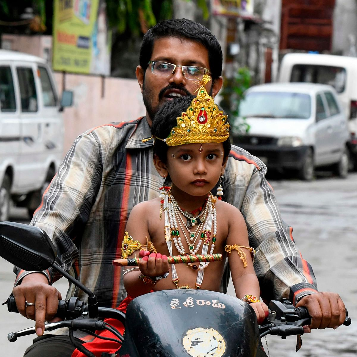 In Pics: From Krishna on bike, to royal thrones; here's how nation is prepping for Janmashtami