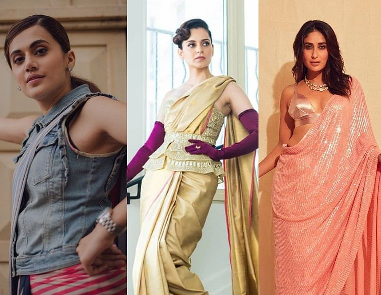 Here's how to drape a saree with a Bollywood twist this Raksha Bandhan