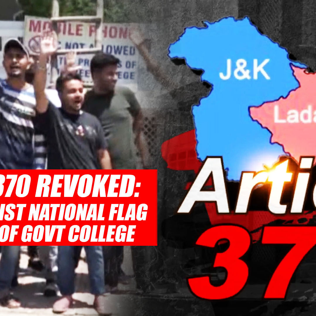 Article 370 Revoked: Students Hoist National Flag At Entry Gate Of Govt College In Kathua