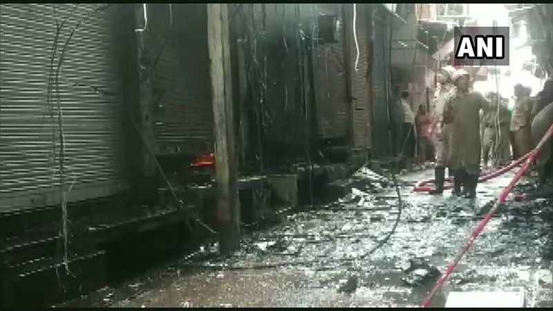 Delhi: Fire breaks out at Gandhi Nagar market, 10 fire tenders at spot