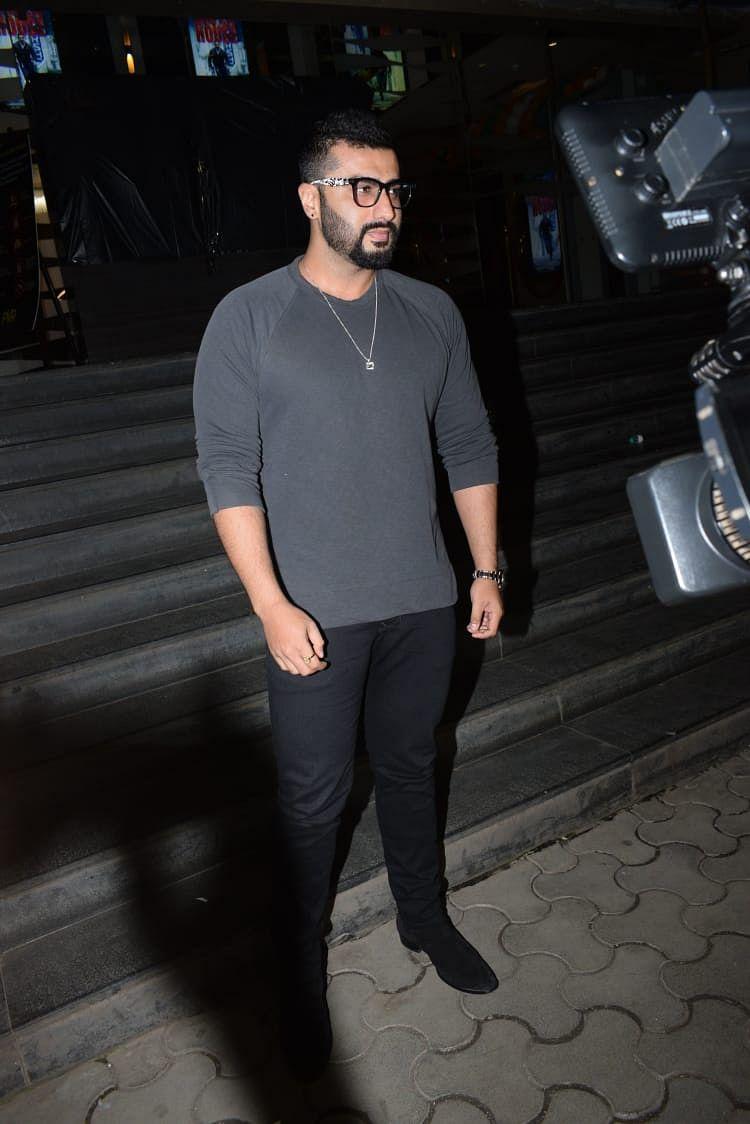Arjun Kapoor, John Abraham were snapped at Batla House screening.