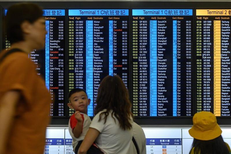 Flights back on schedule at Hong Kong airport
