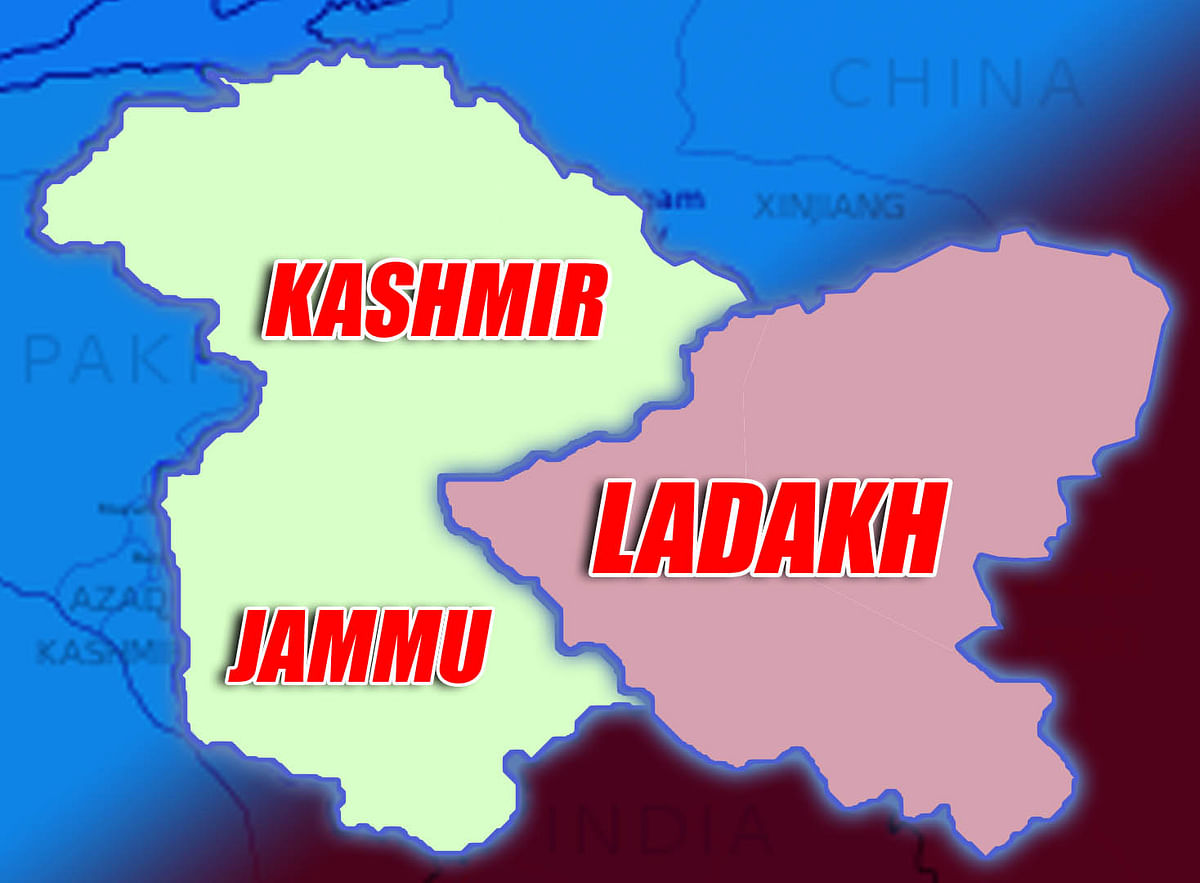 J&K now two union territories -- In redrawn map; Jammu and Kashmir division and Ladakh