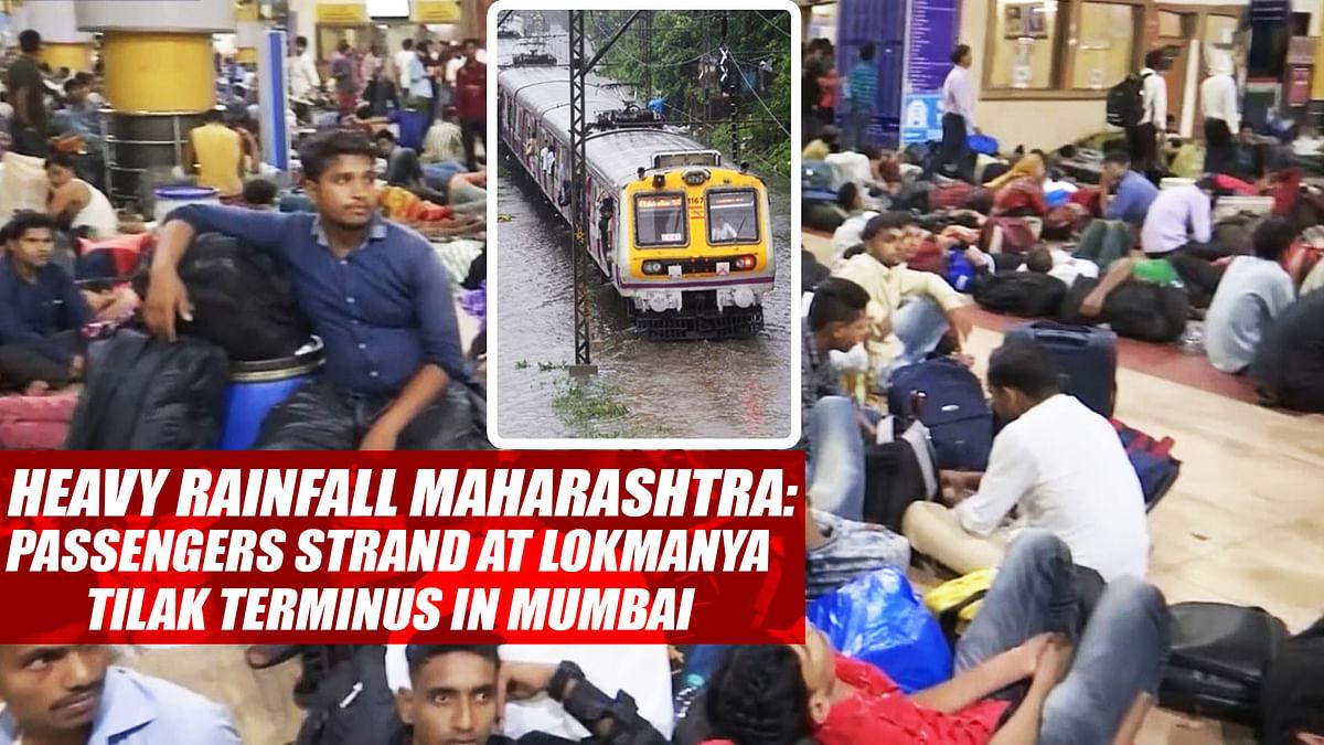 Heavy Rainfall Maharashtra: Passengers Strand At Lokmanya Tilak Terminus In Mumbai