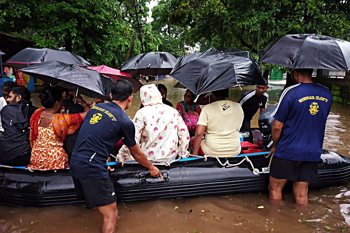 Amid floods in Karnataka, villagers dance on waterlogged National Highway in Belagavi; watch video