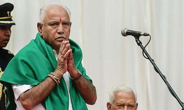 At CM BSY's Cabinet expansion, Madhu Swami takes oath as 'CM'