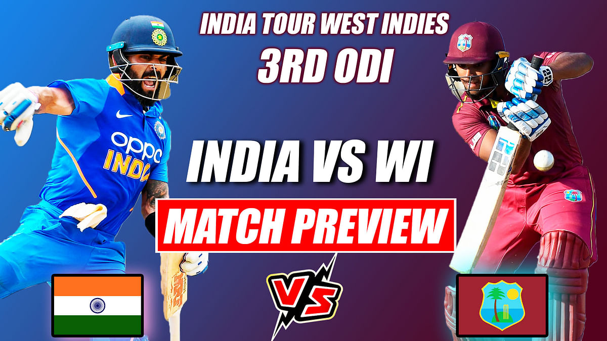 IND vs WI 3rd ODI  MATCH PREVIEW,  Kohli & Company Look To Seal Deal in Final ODI Against WI