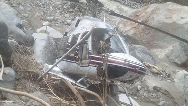 Helicopter carrying flood-relief material crash-lands in Uttarkashi