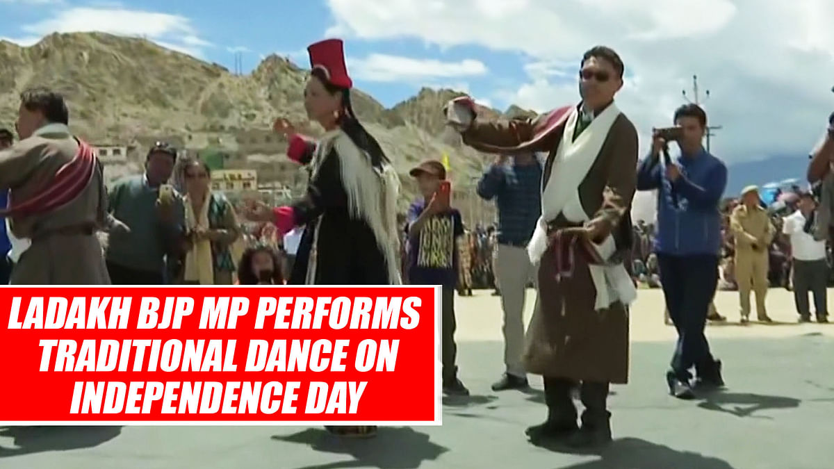 Ladakh BJP MP Performs Traditional Dance On Independence Day