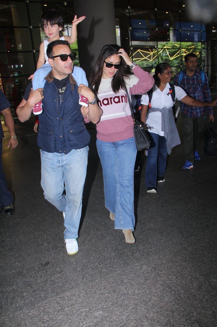 Pataudi couple Saif Ali Khan and Kareena Kapoor Khan are back in town with their little munchkin Taimur Ali Khan.