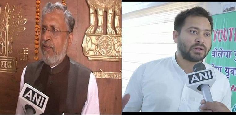 Sushil Modi not in BJP but in Nitish Kumar's party: Tejashwi Yadav