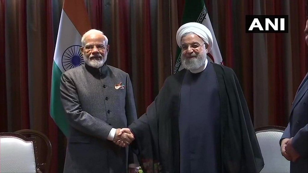 PM Modi meets Iranian President Rouhani; discusses bilateral cooperation