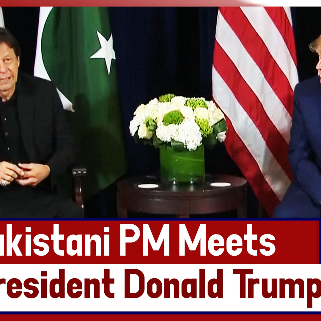 Pakistani PM Imran Khan Meets US President Donald Trump In New York