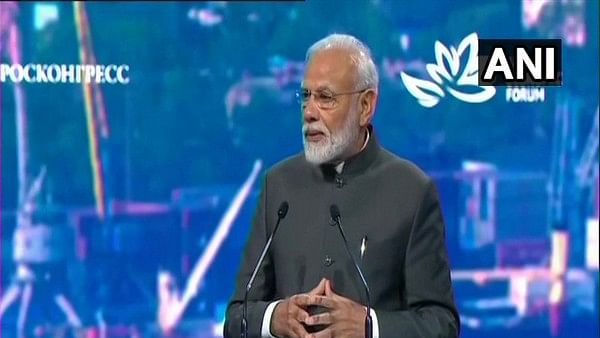 Prime Minister Narendra Modi addressing at the 5th Eastern Economic Forum in Russia's Vladivostok