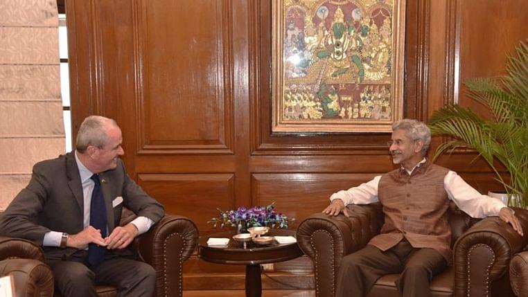 New Jersey Governor Philip D. Murphy with external affairs mininster of India Dr. S. Jaishankar