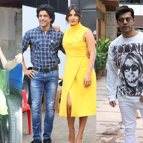 Paparazzi Files: Priyanka Chopra, Sara Ali Khan,Varun Dhawan spotted in city