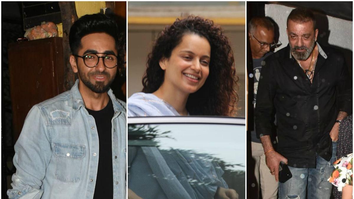 In Pics: Ayushman Khurrana, Kangana Ranaut, Sanjay Dutt and other stars spotted across Mumbai